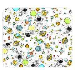 Space Pattern Double Sided Flano Blanket (small)