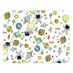 Space Pattern Double Sided Flano Blanket (large)