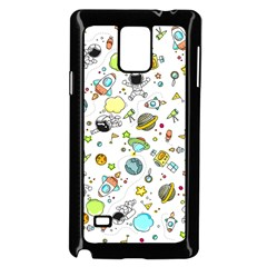 Space Pattern Samsung Galaxy Note 4 Case (black)