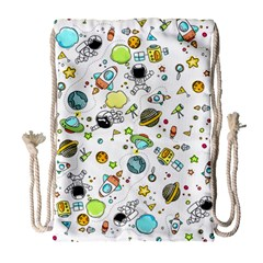Space Pattern Drawstring Bag (large)