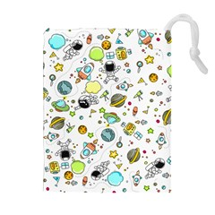 Space Pattern Drawstring Pouches (extra Large)