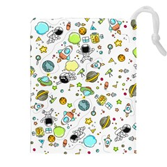 Space Pattern Drawstring Pouches (xxl)