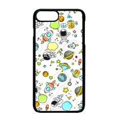 Space Pattern Apple Iphone 7 Plus Seamless Case (black)