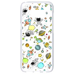 Space Pattern Samsung Galaxy S8 White Seamless Case