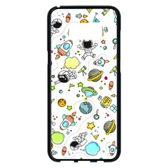 Space Pattern Samsung Galaxy S8 Plus Black Seamless Case