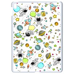 Space Pattern Apple Ipad Pro 9 7   White Seamless Case