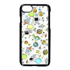 Space Pattern Apple Iphone 8 Seamless Case (black)