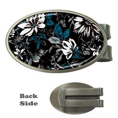 Floral Pattern Money Clips (oval)