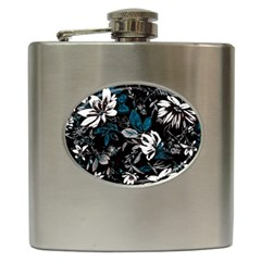Floral Pattern Hip Flask (6 Oz)
