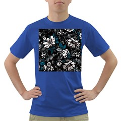 Floral Pattern Dark T Shirt