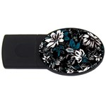 Floral pattern USB Flash Drive Oval (4 GB) Front