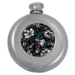 Floral Pattern Round Hip Flask (5 Oz)