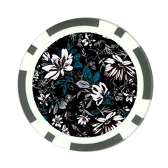 Floral Pattern Poker Chip Card Guard