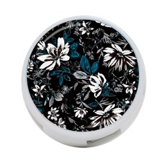 Floral Pattern 4 Port Usb Hub (one Side)