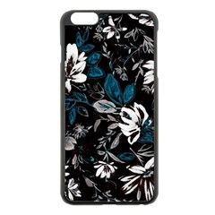 Floral Pattern Apple Iphone 6 Plus/6s Plus Black Enamel Case