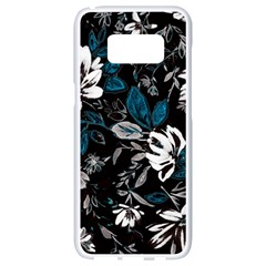 Floral Pattern Samsung Galaxy S8 White Seamless Case