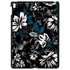 Floral Pattern Apple Ipad Pro 9 7   Black Seamless Case