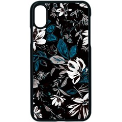 Floral Pattern Apple Iphone X Seamless Case (black)