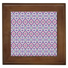 Colorful Folk Pattern Framed Tiles