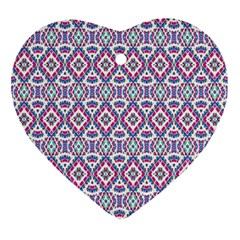 Colorful Folk Pattern Ornament (heart)