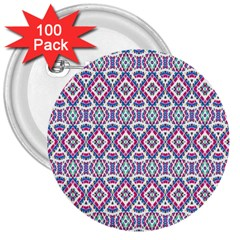 Colorful Folk Pattern 3  Buttons (100 Pack)