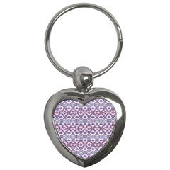 Colorful Folk Pattern Key Chains (heart)