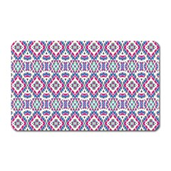 Colorful Folk Pattern Magnet (rectangular)