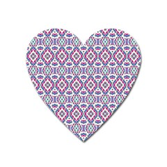 Colorful Folk Pattern Heart Magnet by dflcprints