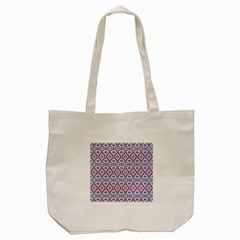 Colorful Folk Pattern Tote Bag (cream)