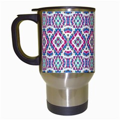 Colorful Folk Pattern Travel Mugs (white)