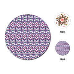 Colorful Folk Pattern Playing Cards (round)
