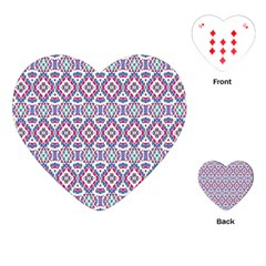 Colorful Folk Pattern Playing Cards (heart)