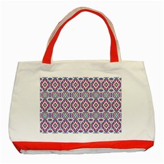 Colorful Folk Pattern Classic Tote Bag (red)