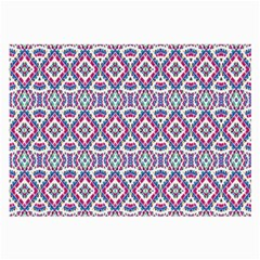 Colorful Folk Pattern Large Glasses Cloth (2 Side) by dflcprints