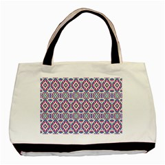 Colorful Folk Pattern Basic Tote Bag (two Sides) by dflcprints
