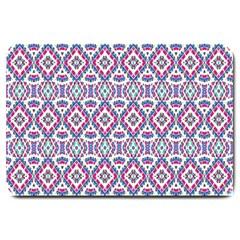 Colorful Folk Pattern Large Doormat