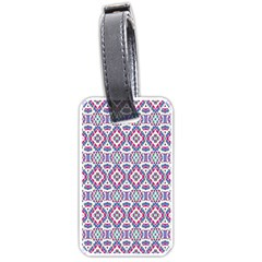 Colorful Folk Pattern Luggage Tags (one Side)