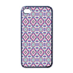 Colorful Folk Pattern Apple Iphone 4 Case (black) by dflcprints