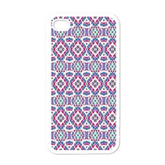 Colorful Folk Pattern Apple Iphone 4 Case (white)