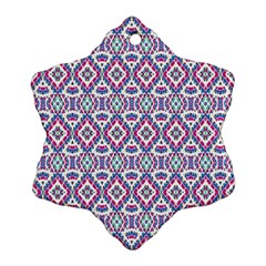 Colorful Folk Pattern Snowflake Ornament (two Sides)