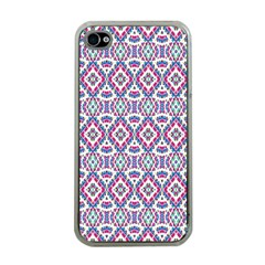 Colorful Folk Pattern Apple Iphone 4 Case (clear)