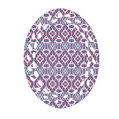 Colorful Folk Pattern Ornament (oval Filigree)
