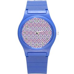 Colorful Folk Pattern Round Plastic Sport Watch (s)