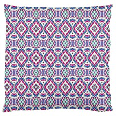 Colorful Folk Pattern Large Cushion Case (one Side)