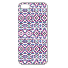 Colorful Folk Pattern Apple Seamless Iphone 5 Case (clear)