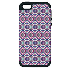 Colorful Folk Pattern Apple Iphone 5 Hardshell Case (pc+silicone)