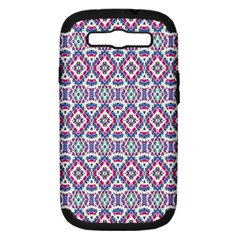 Colorful Folk Pattern Samsung Galaxy S Iii Hardshell Case (pc+silicone)