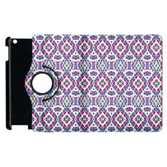 Colorful Folk Pattern Apple Ipad 3/4 Flip 360 Case