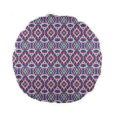 Colorful Folk Pattern Standard 15  Premium Round Cushions