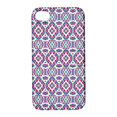 Colorful Folk Pattern Apple Iphone 4/4s Hardshell Case With Stand